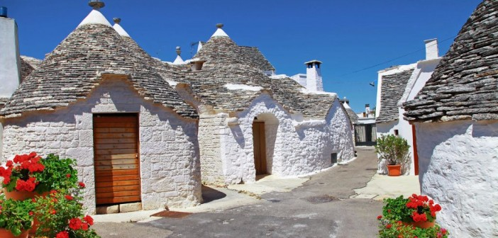 The famous Trulli dwellings