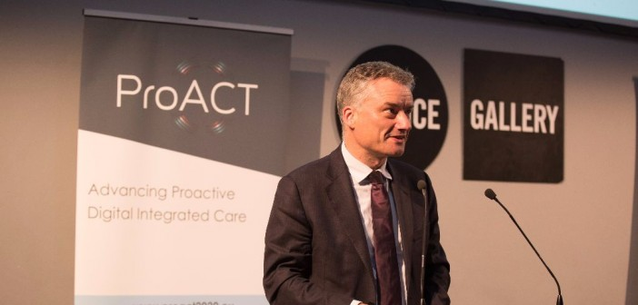 Dr Patrick Prendergast, Provost of Trinity College Dublin, speaking at the official launch of ProACT