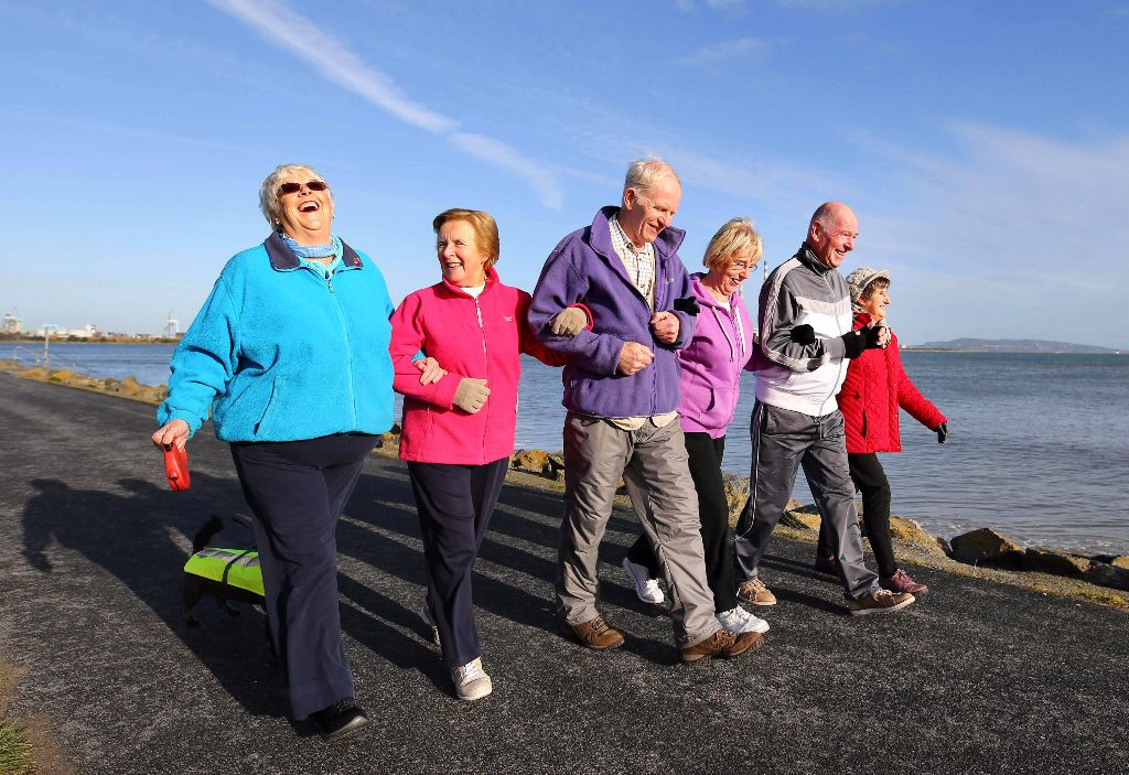 Pictured getting active on Sandymount strand in Dublin were Geraldine Murphy and Molly, Eithne O'Brien, Brendan McCartie, Laura Heasley, John Phillips and Marie Colgan.
