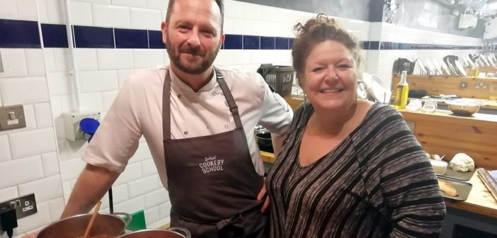 Hot off the grill – Ian Hunter and Stephen Jeffers cooking demonstrations at the ICC Belfast