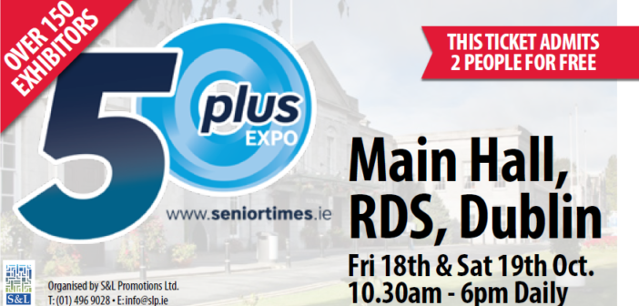 Join Eric Knowles, Conor Pope, Gerry Daly & Mary Byrne at the 50 Plus Expo