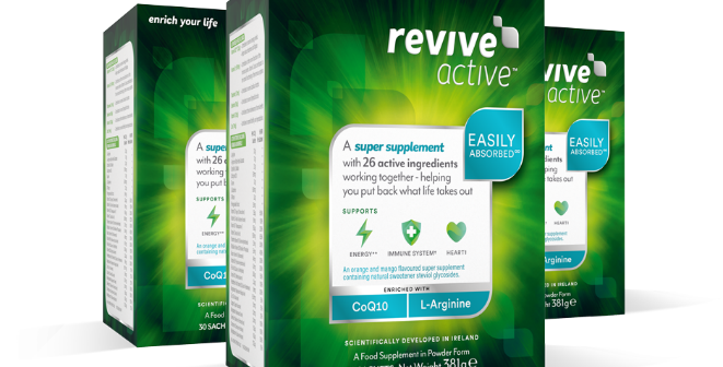 Win a 3-month supply of Revive Active from award winning Irish company, Revive Active